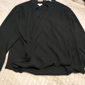 Long sleeve crossover blouse from J.JIll
